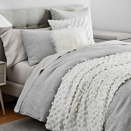 European Flax Linen Duvet Cover Shams Grey Bedding Master Bedroom Bedding Master Bedroom Grey Bedding