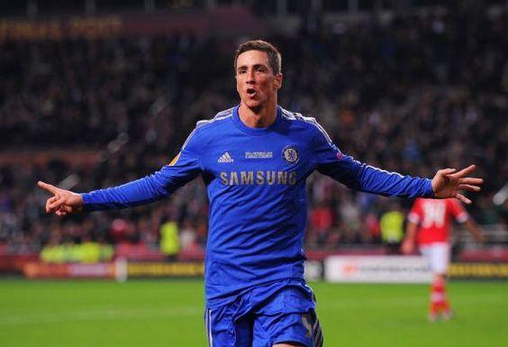 Fernando Torres tras anotar el gol contra Benfica.