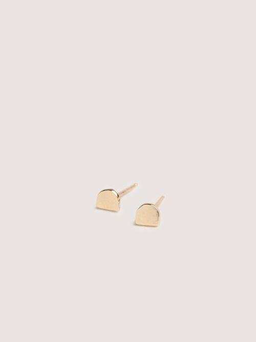 Mini Cirq Studs in 14k Yellow Gold by Erin Considine
