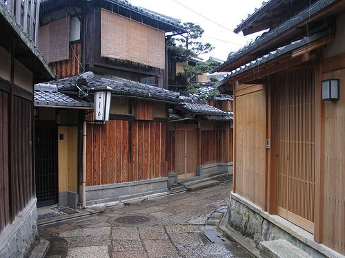 Old streets with machiya in kyoto kyoto is one of my for Classic japanese house