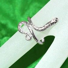 Spiral Snake Ring - SILVER