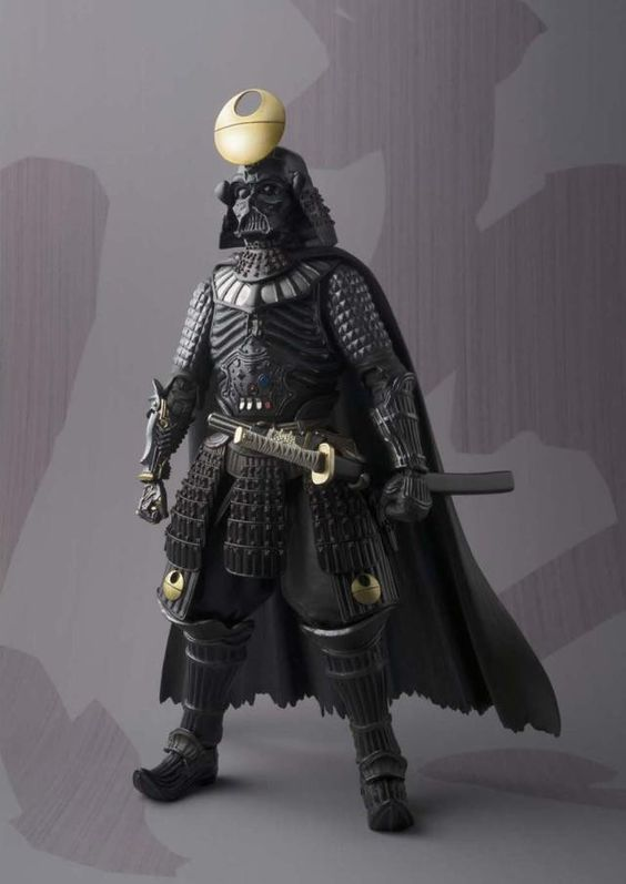 Star Wars Japanese Samurai Shogun style Darth Vadar Boba Fett Stormtrooper figure figurine toy adult kids