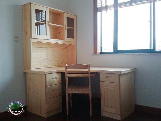 Todos los muebles de madera maciza de pino pino escritorio combinación…