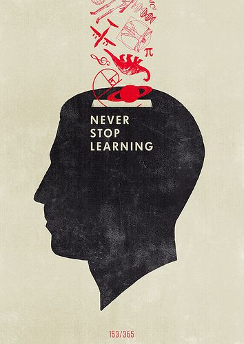 """""""Never Stop Learning"""" by Hannes Beer"""