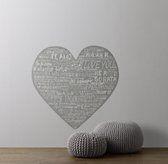 Heart Wall Decal - room decor