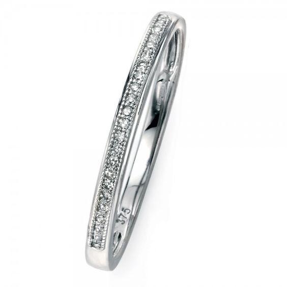 9ct White Gold Pave Set Diamond Ring #diamonds #diamondrings #engagementring #love #wedding #fashion #style #jewellery