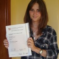 A student with a Cambridge ESOL certificate at London Calling - Cambridge ESOL Exams Centre at Las Palmas