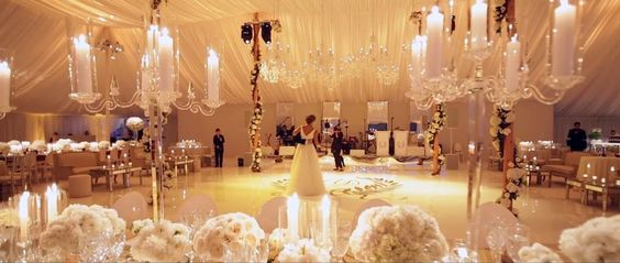 I'm not much of a believer in marriage; however, this is the most incredible wedding reception I've ever seen.