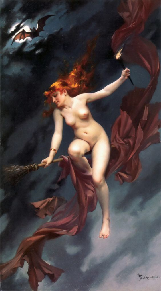 Luis Ricardo Falero (1851-1896), 'Muse of the Night' (Witches' Sabbath), 1880 Source