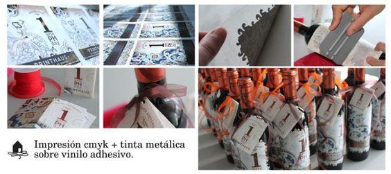 Botellas Printhaus Day 2012.  Con tinta metálica. Espectacular.