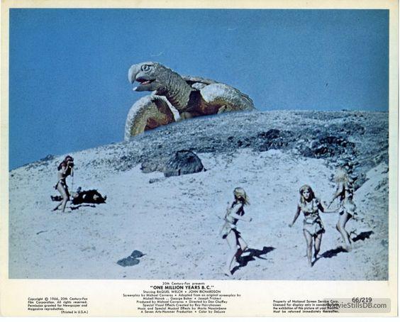 One Million Years B.C. (1966)  Color Still (original) / Scene: Giant Turtle Source: Pinterest.com
