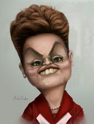 Dilma Rousseff - Presidente do Brasil - Insanidade Nerd: As caricaturas mais engraçadas da Internet: