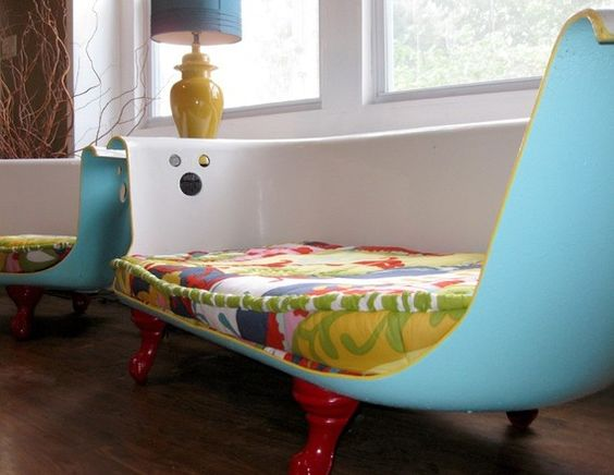 repurposed----bath tub seating