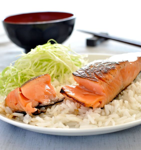 Japanese Salmon with Mirin and Soy Sauce by recipetineats #Salmon #Japanese #Mirin #Soy #Healthy