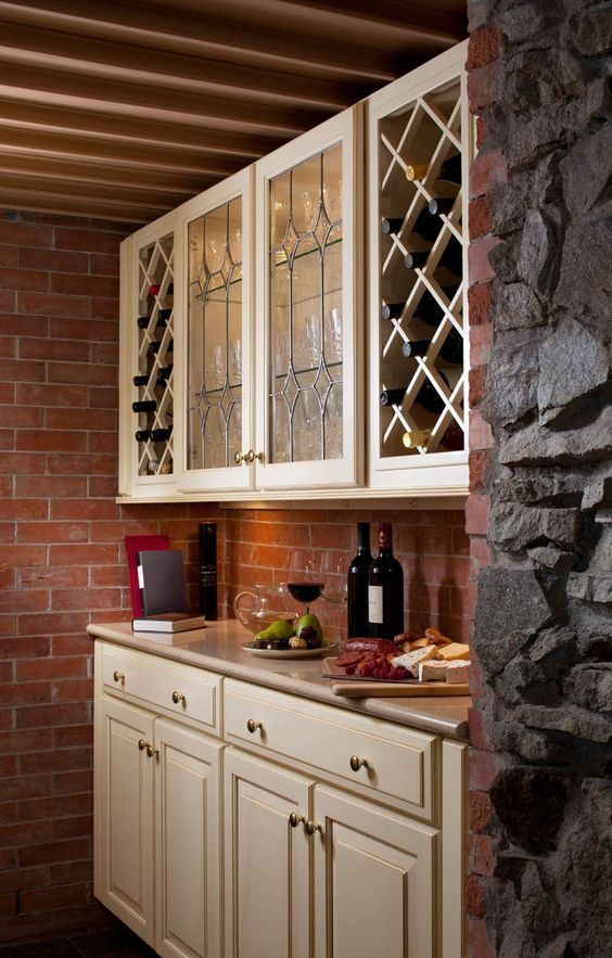 Wine Room Organization Waypoint Living Spaces Style 610d In Maple Butterscotch Glaze Kitchen