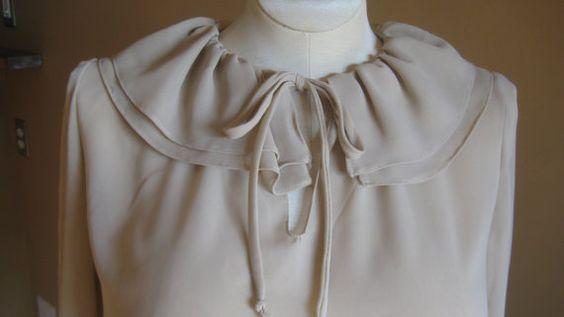 vtg peter pan collar secretary blouse by NashtyVintage on Etsy, $15.00