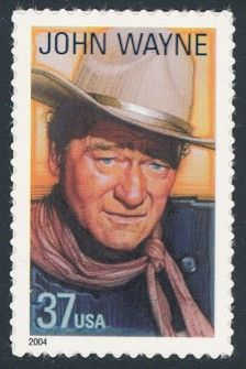 John Wayne - Single Stamp 10th in Legends of Hollywood Series United States, 2004