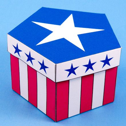 Pentagon Box Project and Patterns | Shape, Stripes and Stars