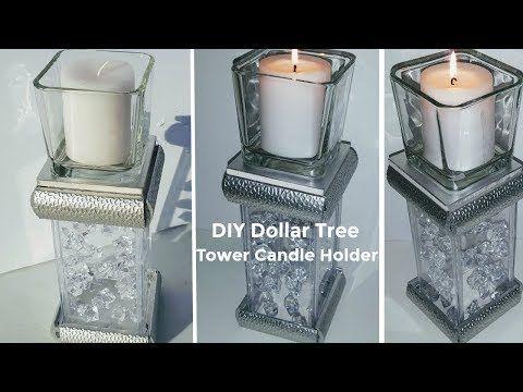 Crystal Clear Vase Diamante Tea Light Candle Holder and Photo Frame Set Home Dec