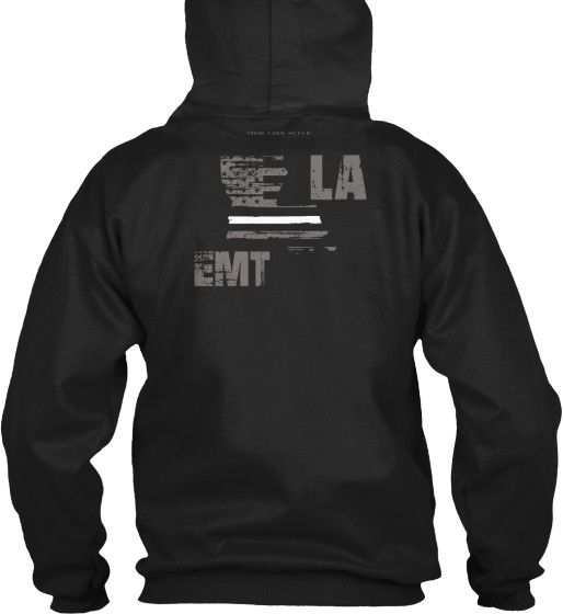 Louisiana EMT Thin White Line Hoodie  Wear your LA EMT and EMS pride and show your support for the Louisiana Thin White Line.  - Official Thin Line Style Apparel, printed in The USA - 50% Cotton, 50% Polyester - Double-needle stitching for durability, double-lined hood, pill-resistant air jet yarn - Machine Wash Warm, Tumble Dry Low. Do not bleach.