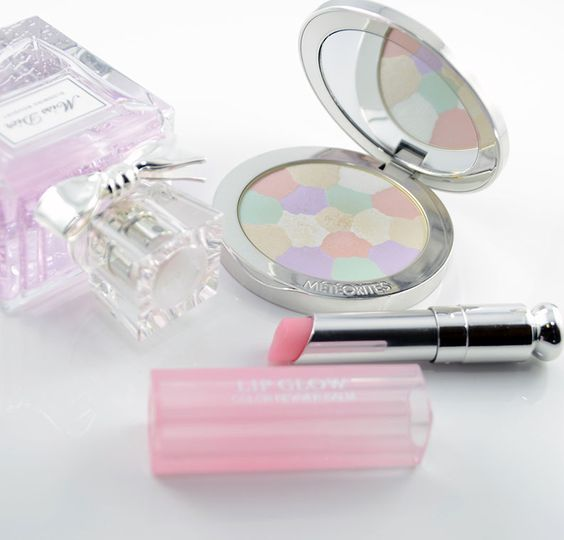 Miss Dior Blooming Bouquet, Guerlain Meteorites Compact and Dior Addict Lip Glow