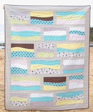 "Gorgeous ""beach"" quilt"