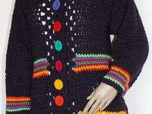 Häkelanleitung Vintage Mantel mit Grannys Gr. 38 bis 44