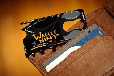 Wallet Ninja 18 in 1 Multi-purpose Credit Card Size Pocket Tool - - Amazon.com
