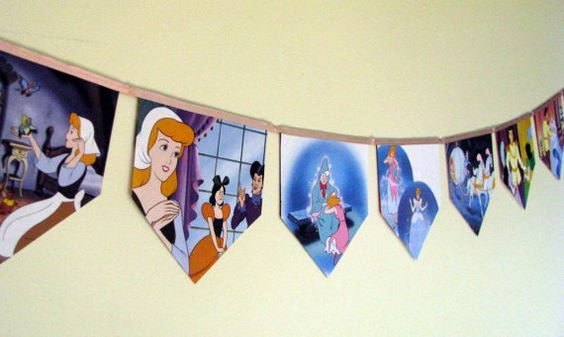 Cinderella Storybook Paper Bunting by MagpieSailor on Etsy