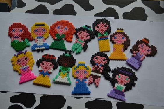 Disney Princess hama beads by Mircoles Nightmare