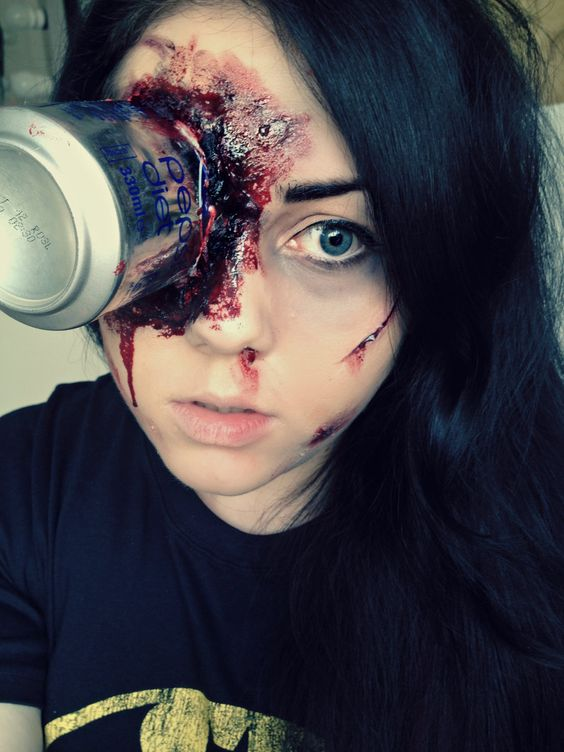 Pepsi can SFX make-up by ~KikiMJ on deviantART imagine how bad this would hurt!