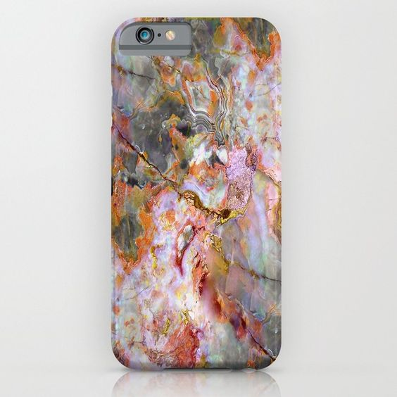 Rainbow Marble 1 iPhone & iPod Case - Brown Marble iPhone & iPod Case - Stunning, case designs for your iPhone or Android cell phones. A beautiful accessory that will help protect your smart phone!