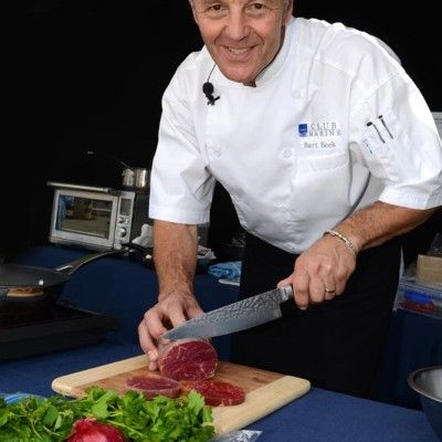 Club Marine's resident chef Bart Beek performed cooking demonstrations during the Expo