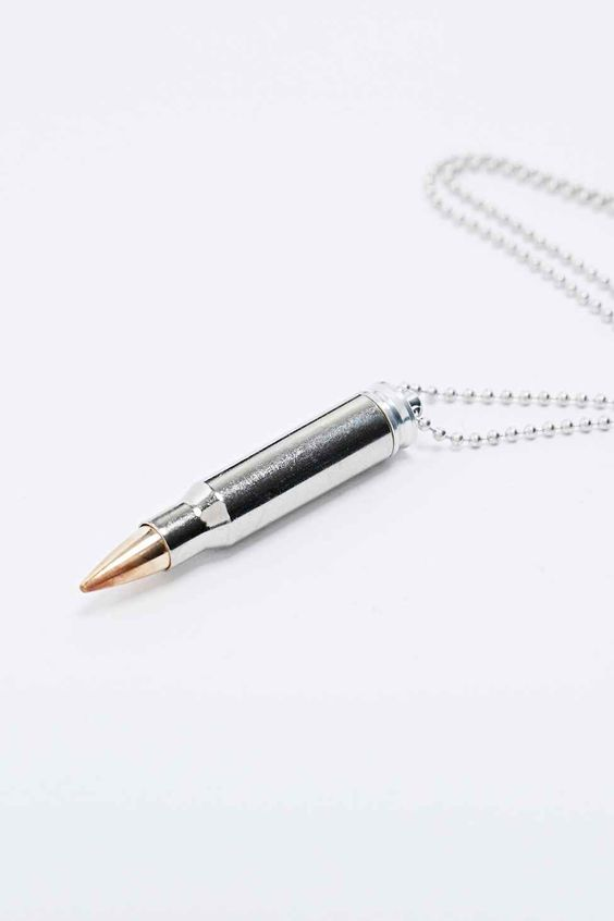 Lovebullets Innovation Bullet Necklace in Brass