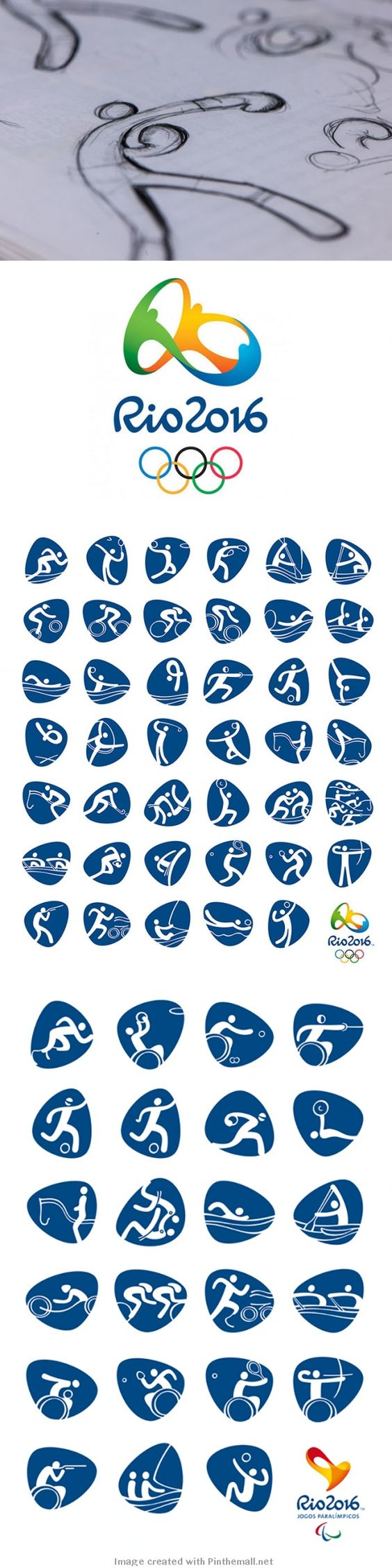 Olympic rings logo rio 2016 olympics logo designed by fred gelli - Creative Review Rio 2016 Olympic Pictograms Unveiled Creative Review Pinterest Creative Review And Logos