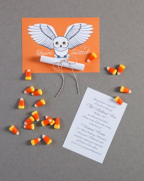 Having a Harry Potter Halloween party? Make these owl themed invitations to invite your friends!
