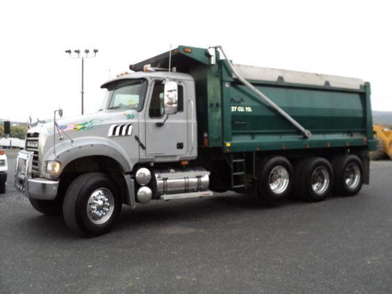 Tri Axle Cabover : Mack trucks used granite tri axle steel dump