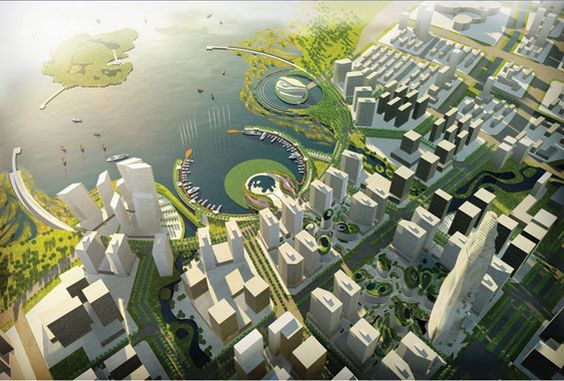 Landscapes bays and china on pinterest for Tract landscape architects