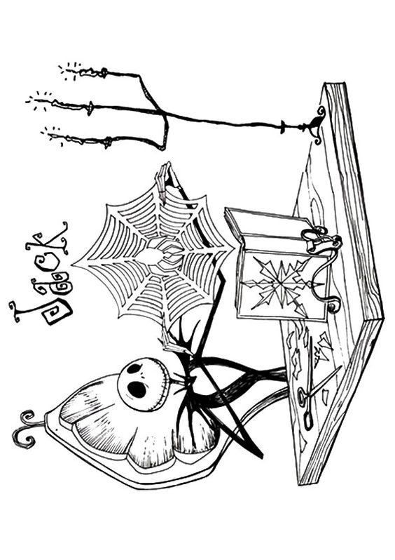 nightmare before christmas coloring pages mayoral | print coloring image | Nightmare before, Before christmas ...