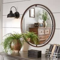 Rustic 52 X 15 Inch Window Inspired Wall Mirror Decor From Studio 350 Brown Grey In 2020 Home Decor Living Room Mirrors Modern Bathroom Tile