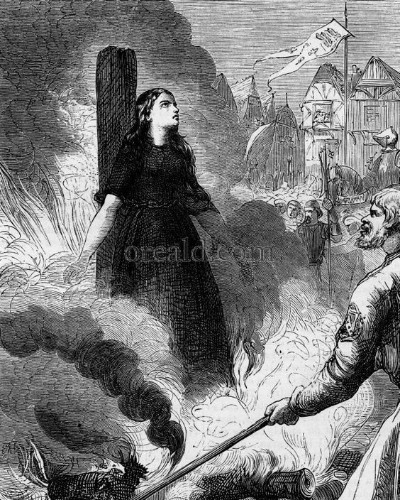 """""""The Burning of Joan of Arc"""" from Peter Cassell's ILLUSTRATED HISTORY OF ENGLAND, vol. 1."""