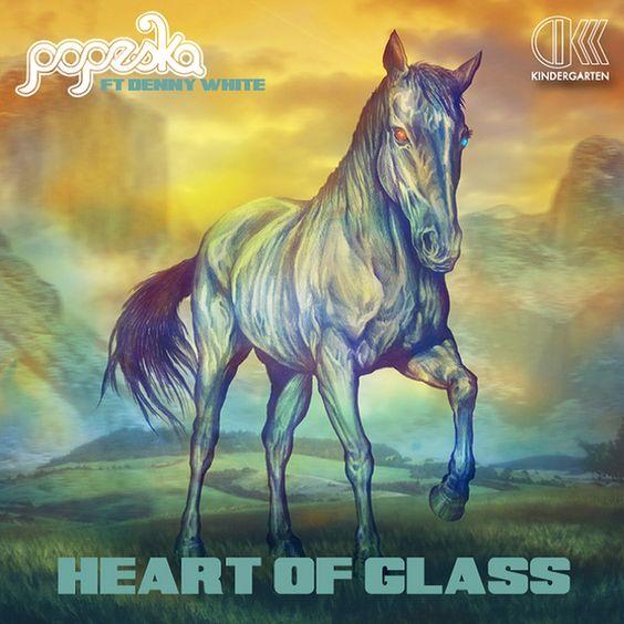 Popesca, Denny White – Heart of Glass (single cover art)