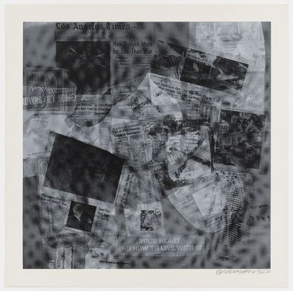 "Surface Series from Currents  Robert Rauschenberg (American, 1925–2008)    1970. One from a portfolio of 18 screenprints, composition: 35 1/16 x 35 1/16"" (89 x 89 cm); sheet: 40 x 40"" (101.6 x 101.6 cm). Gift of the artist. © 2013 Robert Rauschenberg Foundation/Licensed by VAGA, New York, NY"