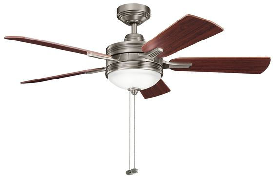 Light Brite:  Kichler Lighting Logan 52'' Transitional Ceiling Fan - KCH-300148AP