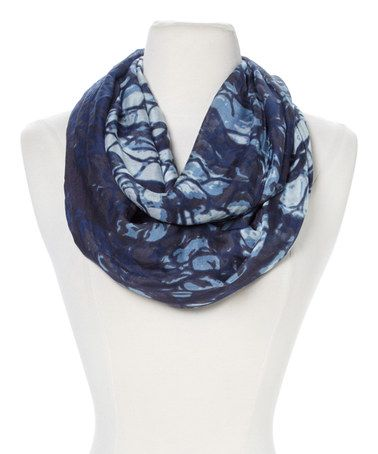 Look at this #zulilyfind! Blue Bold Python Infinity Scarf by TAHARI #zulilyfinds