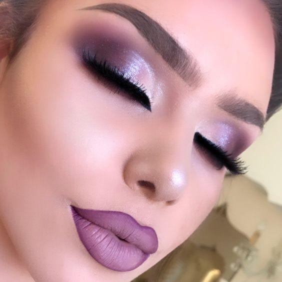 Maquiagem lilás