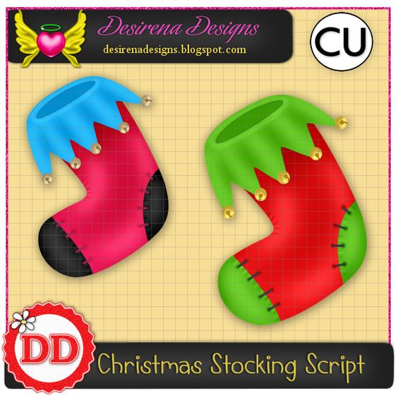 Christmas Stocking 2015 Script CU : Scrap and Tubes Store, Digital Scrapbooking Supplies