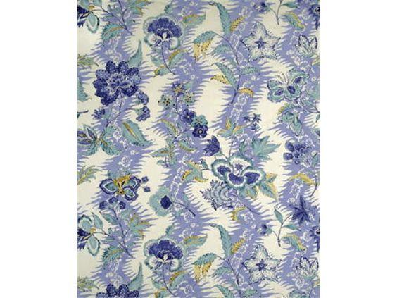 Brunschwig & Fils MONSOON FLORAL LINEN & COTTON PRINT CHINA BLUE/LARKSPUR BR-79789.261 - Brunschwig & Fils - Bethpage, NY