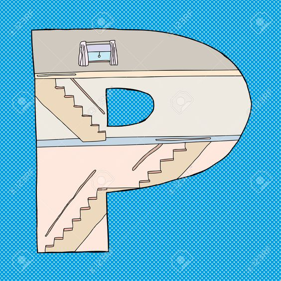 Typography - Building Alphabet by Eric Basir - Letter P