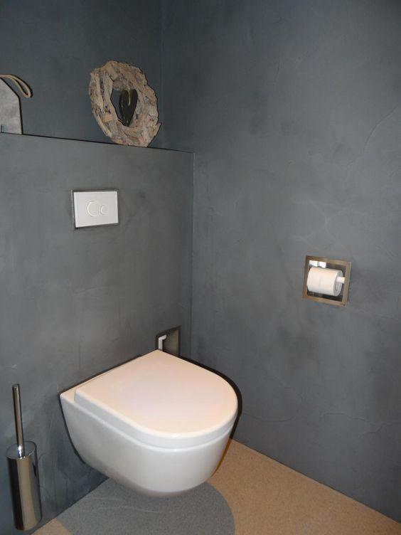 Badkamer toilet beton cire stukadoorsbedrijf frits kool te veenendaal voor wand en - Badkamer beton wax ...